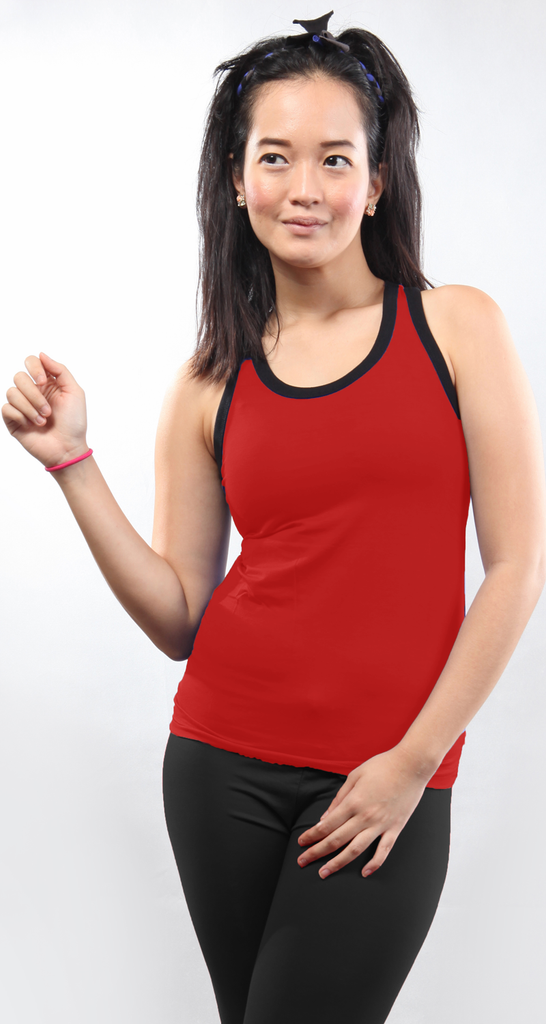 chusquea bamboo tank top_red (bts013w)
