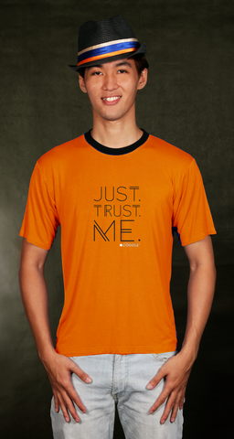 "luteo ""just trust me"" orange bamboo t-shirt (bts031)"