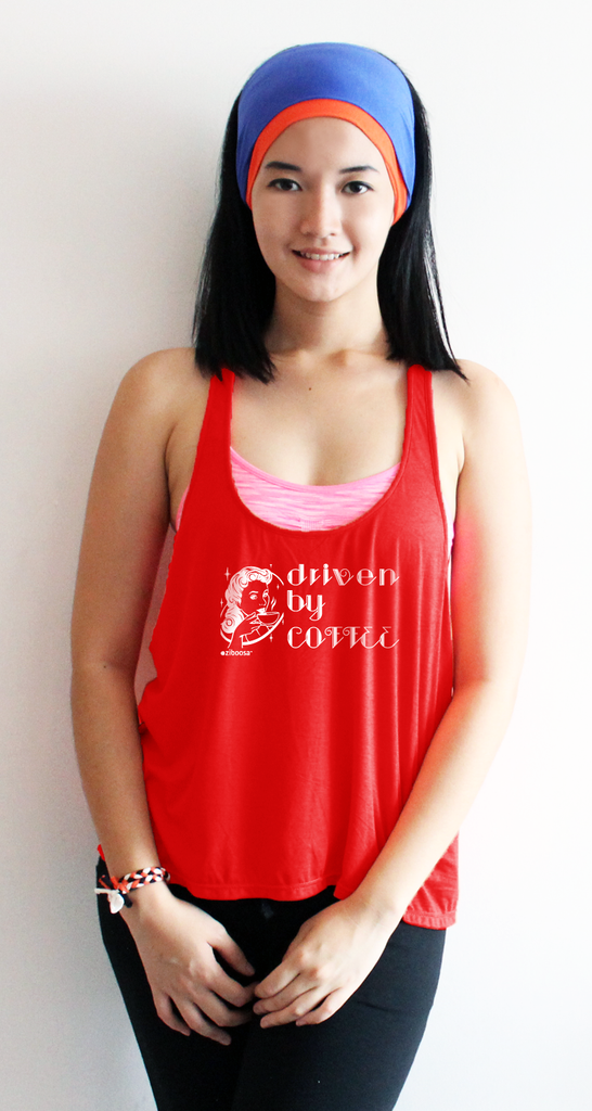aurea driven by coffee bamboo crossback tanktop_red (zaw004)