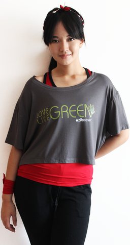 love live green rifera bamboo crop top_grey (blw016)