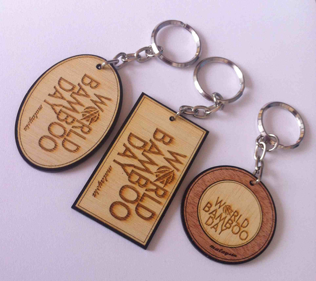 world bamboo day [wbd] keychain (sbg032)