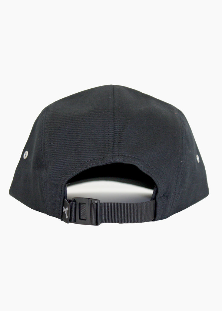 PEACE 5 PANEL CAP BLACK