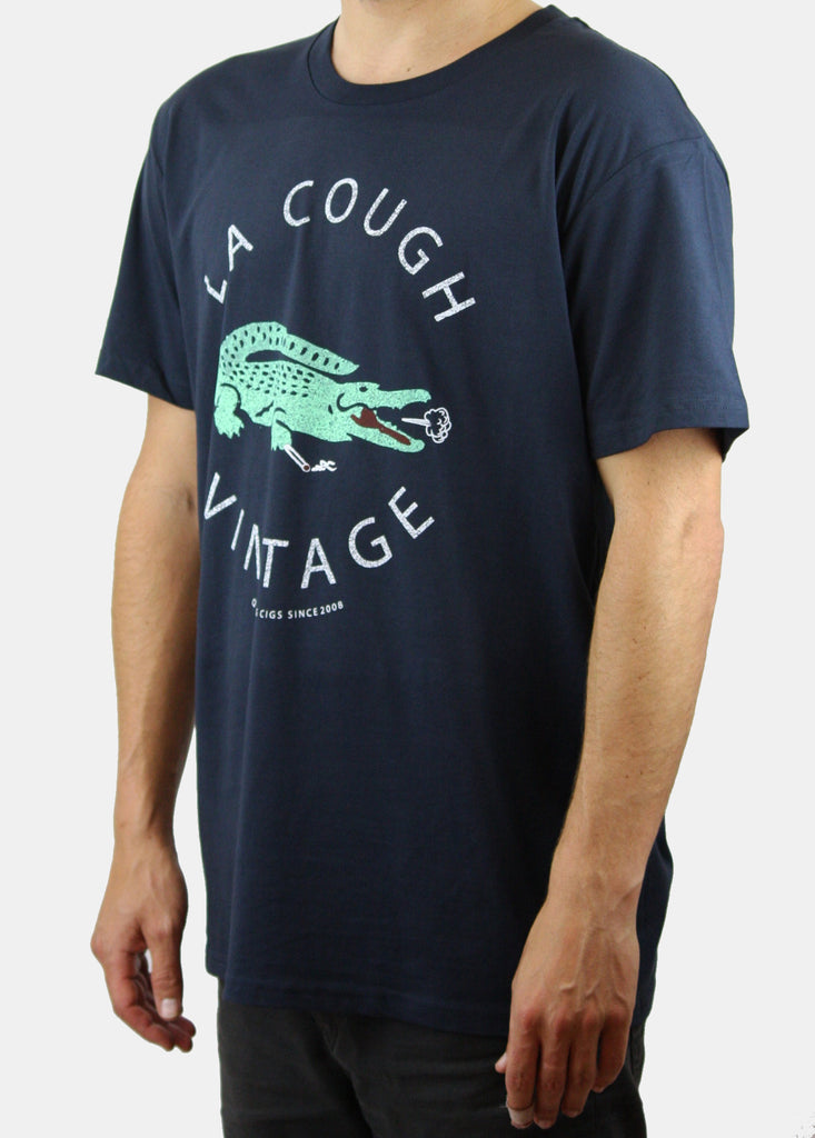 LA COUGH Tee / Navy