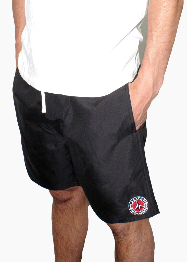 PEACE SWIM SHORTS / Black