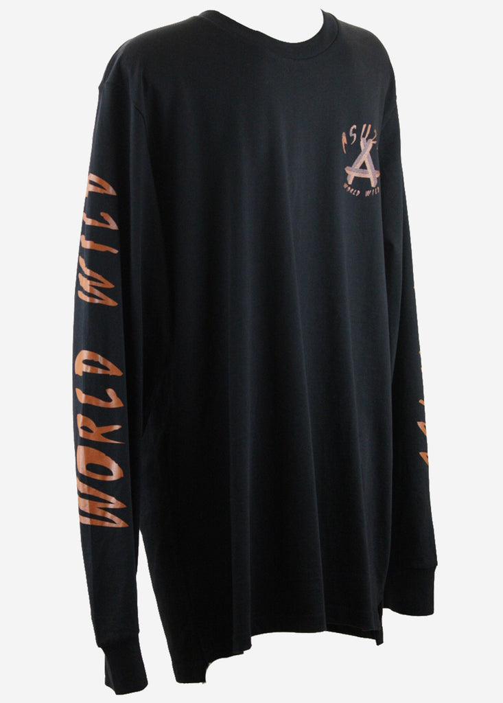 WORLD WILD Long sleeve tee / Black