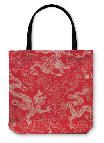 Tote Bag, Asian Dragon Pattern - Hopkins Barn
