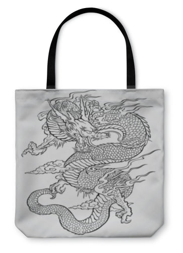 Tote Bag, Dragon Tattoo Illustration - Hopkins Barn