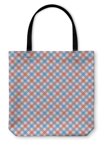 Tote Bag, Red And Blue Plaid Pattern1 - hopkins-barn
