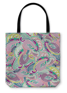 Tote Bag, Colourful Indian Paisley Pattern - Hopkins Barn
