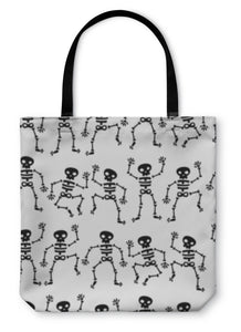 Tote Bag, Dancing Skeleton Pattern - Hopkins Barn