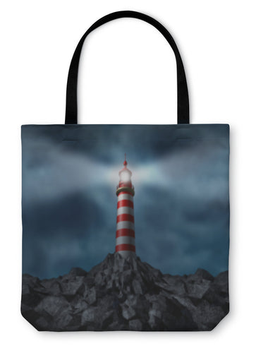 Tote Bag, Lighthouse Clearing The Path - Hopkins Barn