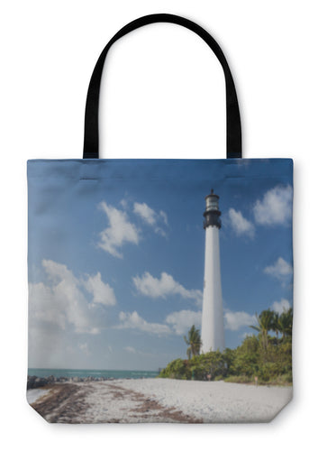 Tote Bag, Cape Florida Lighthouse In Bill Baggs - Hopkins Barn