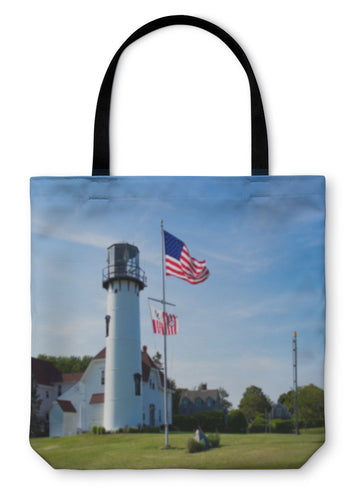 Tote Bag, Chatham Cape Cod Lighthouse - Hopkins Barn