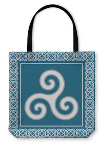 Tote Bag, Old Triskelion Symbol  - Hopkins Barn