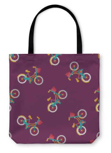 Tote Bag, Transportation Bicycle Flat Iconeps10 Pattern - hopkins-barn