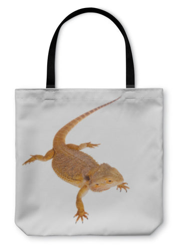 Tote Bag, Red Bearded Dragon Pogona Vitticeps On White - hopkins-barn