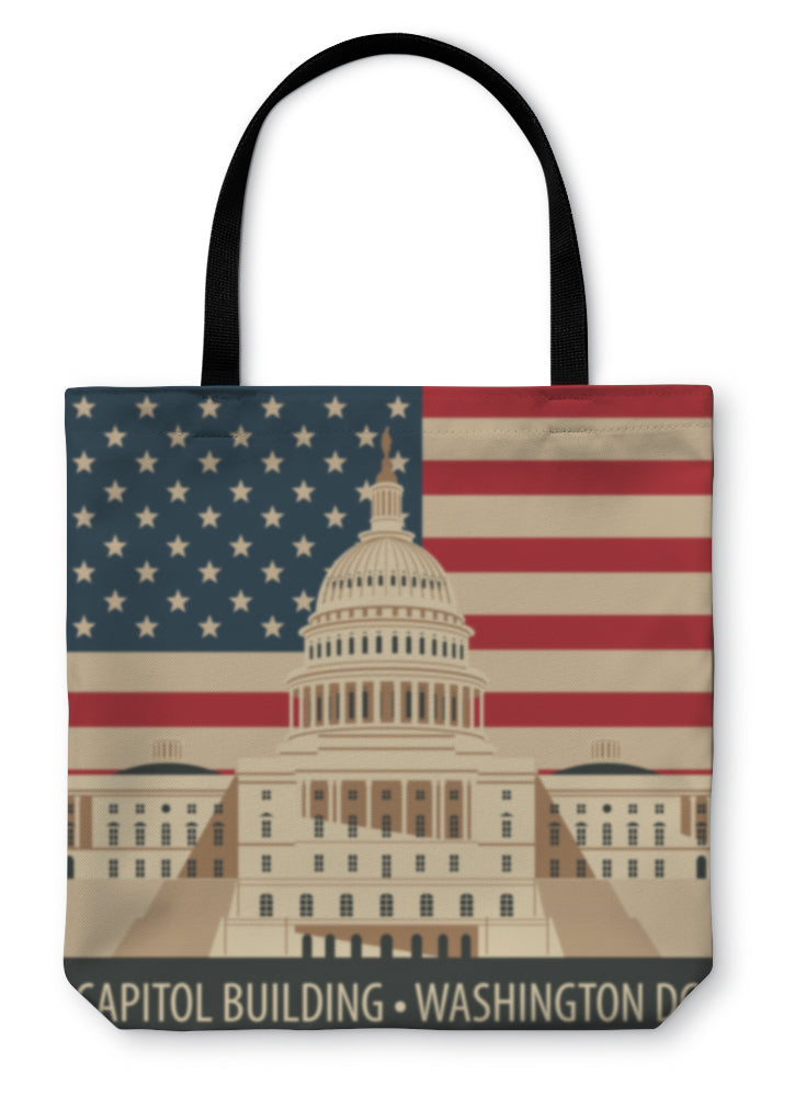 Tote Bag, Capitol Building In Washington Dc - Hopkins Barn