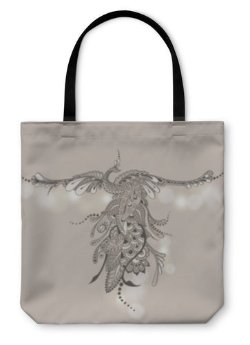 Tote Bag, Bird Phoenix Mehndi - Hopkins Barn