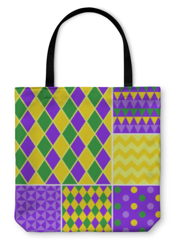 Tote Bag, Mardi Gras Patterns Collection - Hopkins Barn