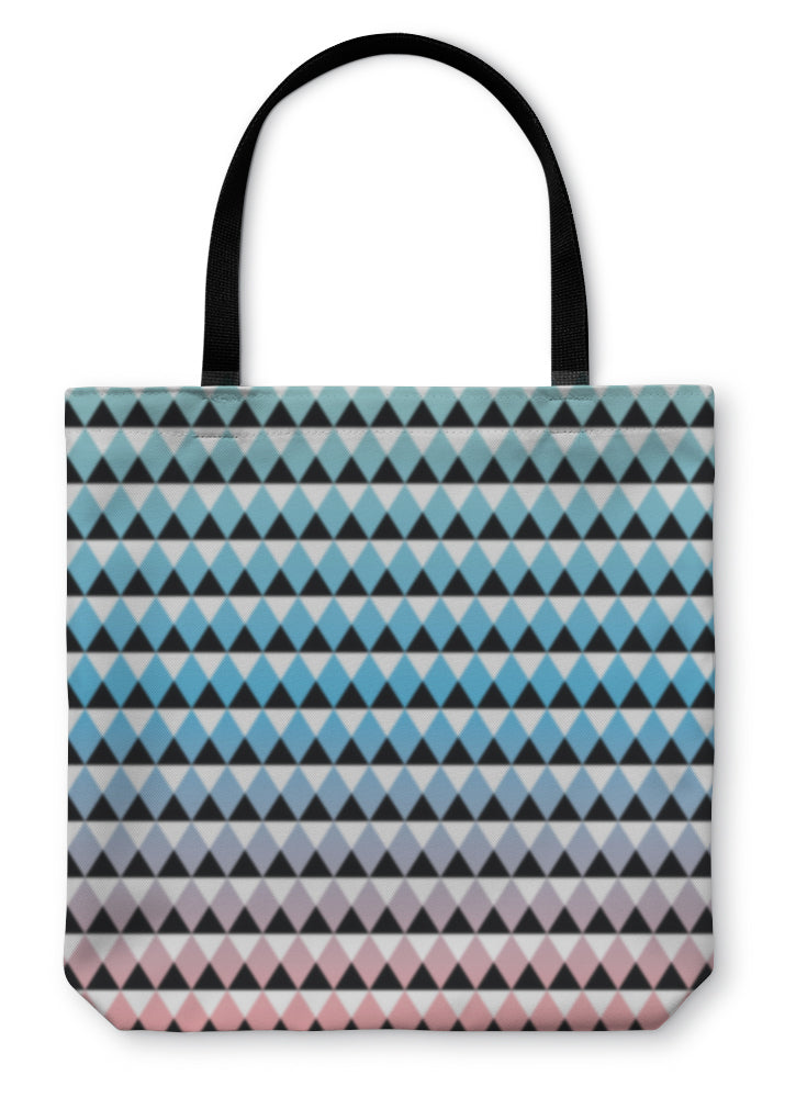 Tote Bag, Tribal Aztec Ombre Pattern - hopkins-barn