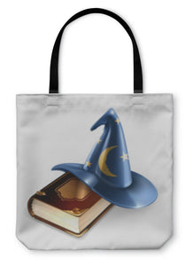 Tote Bag, Wizard Hat And Old Book - hopkins-barn