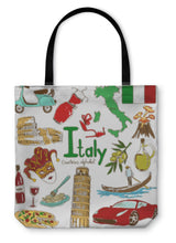 Load image into Gallery viewer, Tote Bag, Collection Of Italy Icons - Hopkins Barn