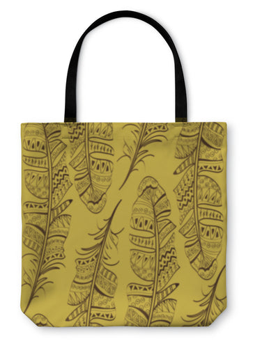 Tote Bag, Pattern Of Bird Feathers - Hopkins Barn