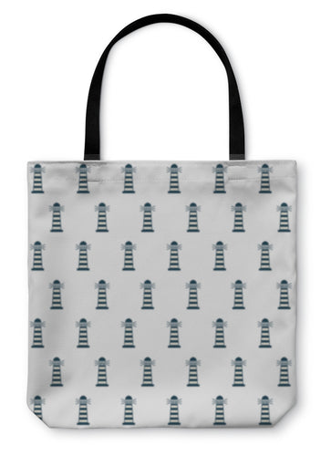 Tote Bag, Lighthouse Tower Guide Pattern Icon - Hopkins Barn