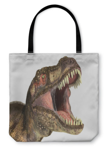 Tote Bag, Tyrannosaurus Rex Dinosaur Photorealistic Representation - hopkins-barn
