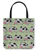 Load image into Gallery viewer, Tote Bag, Cartoon Cows Illustration - Hopkins Barn