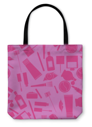 Tote Bag, Makeup Pattern in Pink - Hopkins Barn