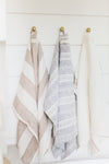 MH Tea Towel - Beige French Stripe