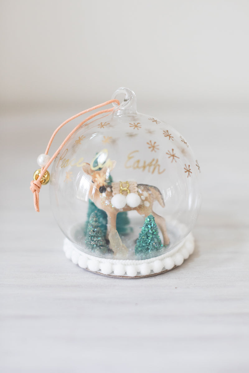 Winter Deer Globe Ornament
