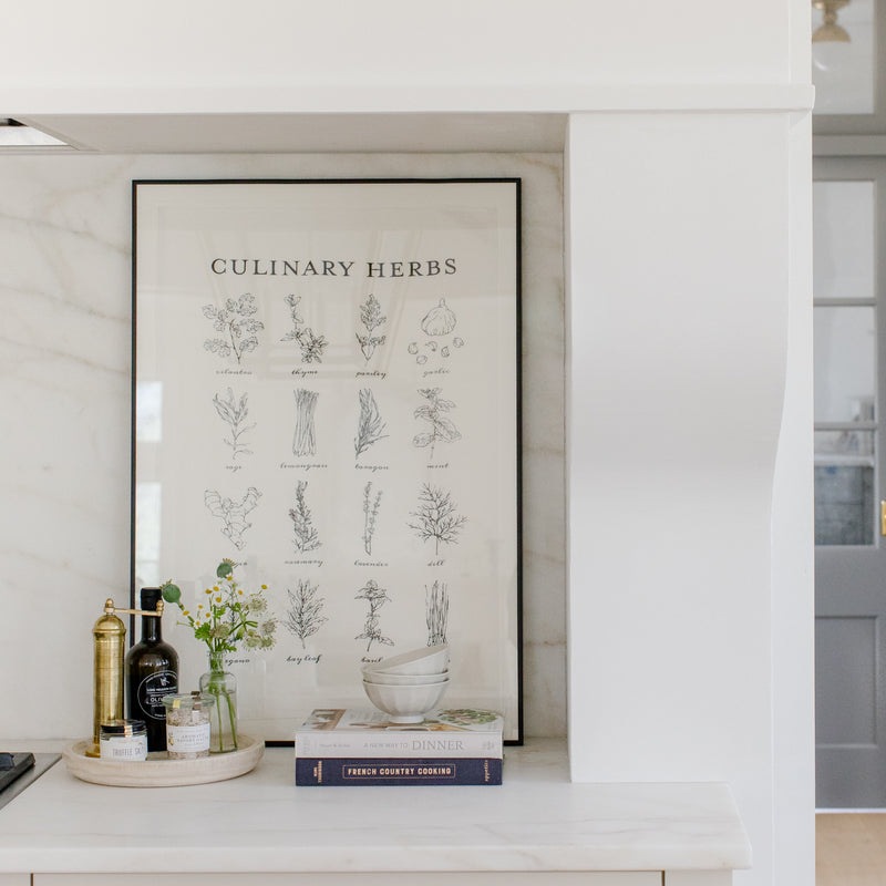 Culinary Herbs - Linen Tea Towel