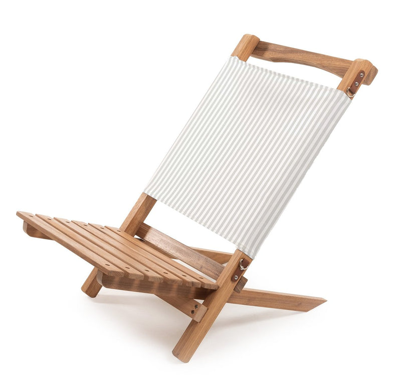 The 2-Piece Beach Chair - Sage Stripe