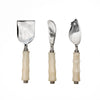 Light Wood & Marble Salad Server Set