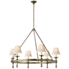 Classic Ring Chandelier with Natural Paper Shades