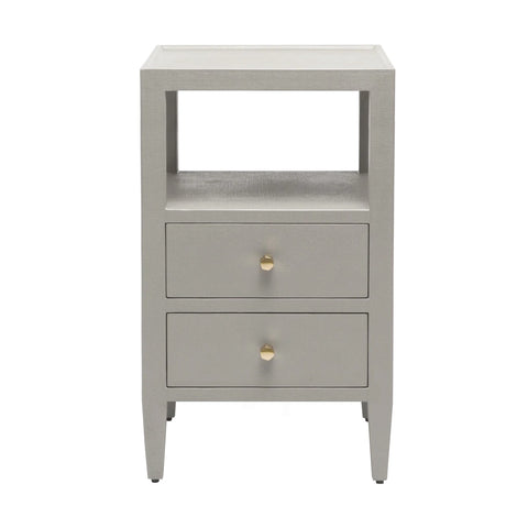 Yvonne Nightstand Double - Light Gray