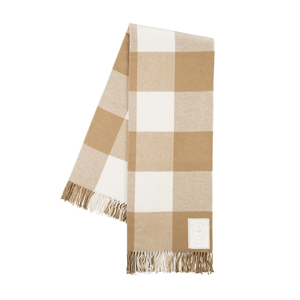 MH Buffalo Check Throw - Caramel