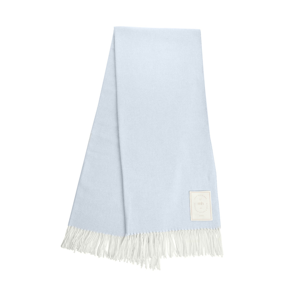 MH Herringbone Throw - Heron Blue