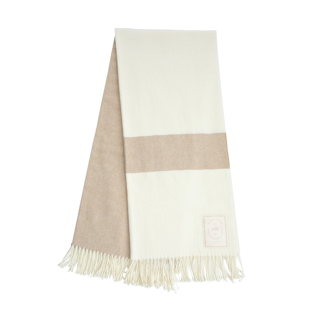 MH Modern Stripe Throw - Oak