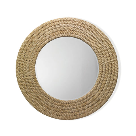 Banded Brass Mirror