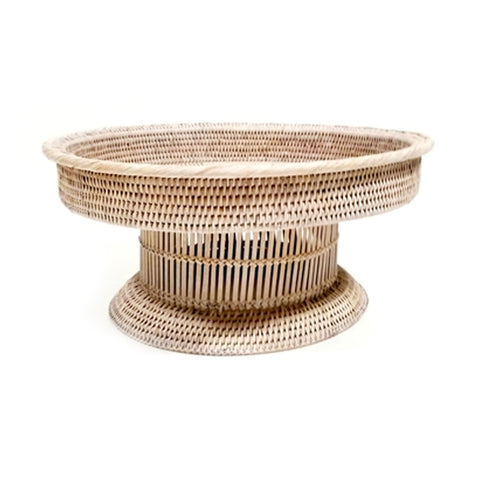 Rattan Storage Basket with Inline Lid