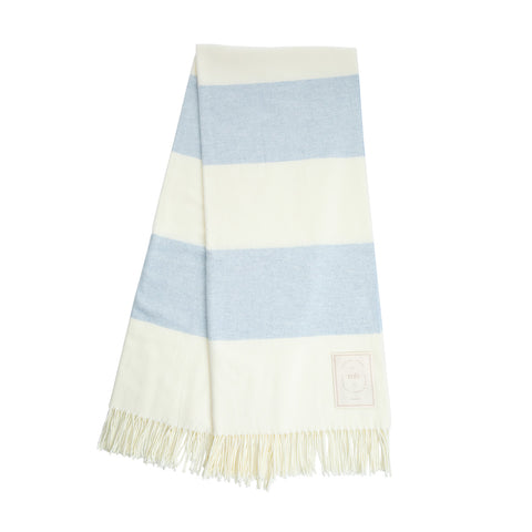 MH Stripe Throw - Light Grey