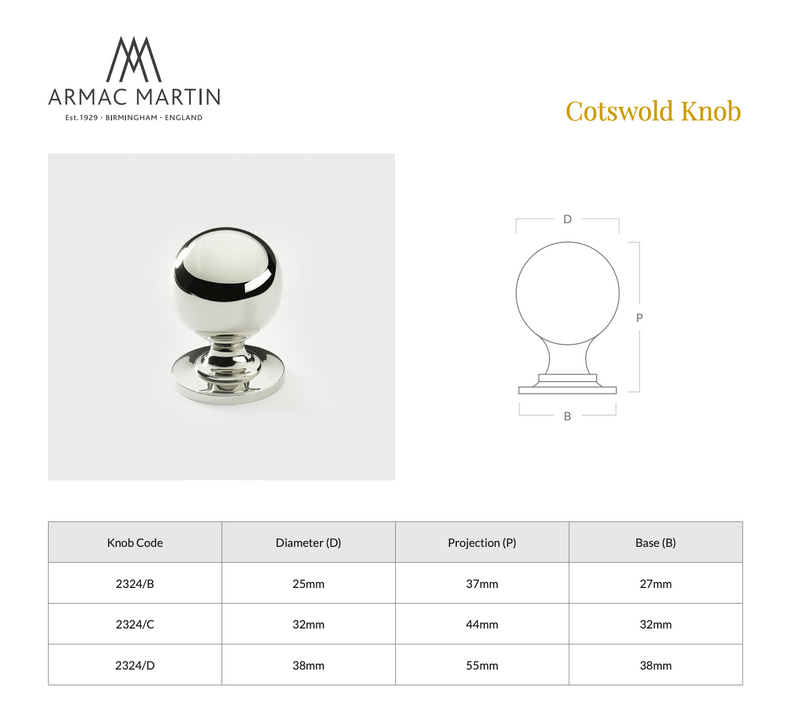 Cotswold Ball Knob