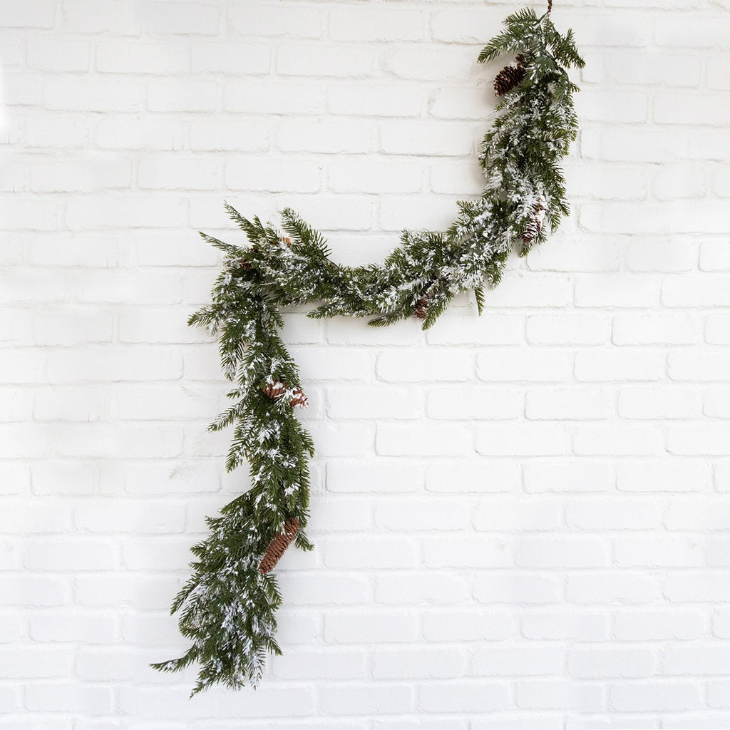 Snow Slash Pine Garland
