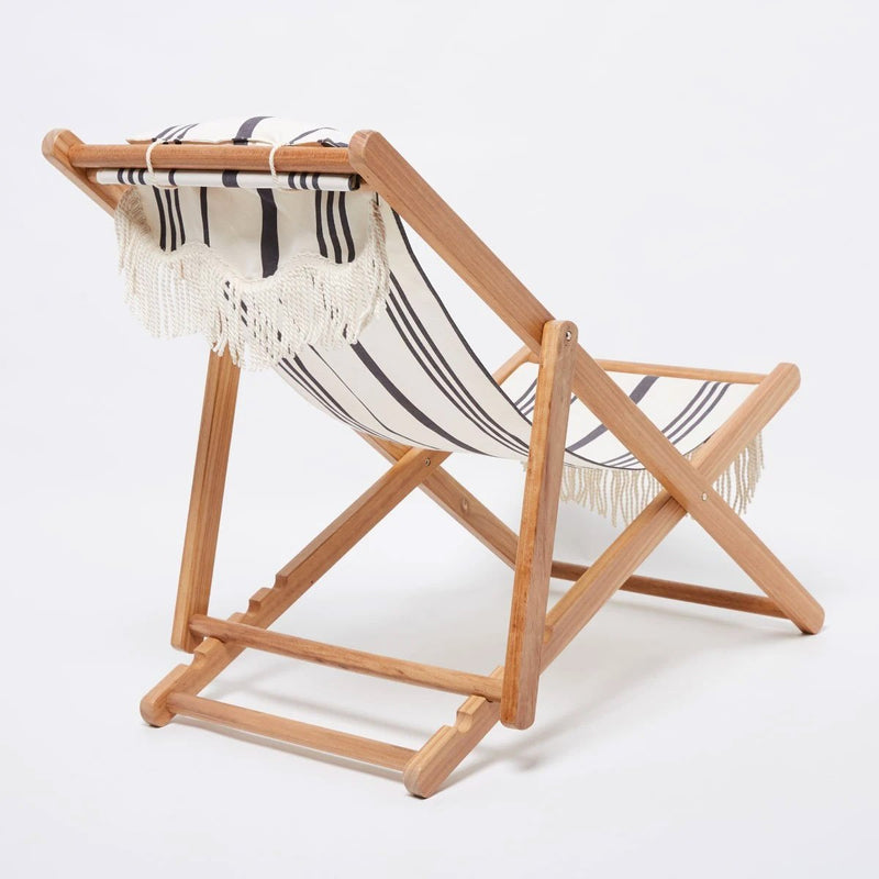 Sling Chair in Vintage Black Stripe