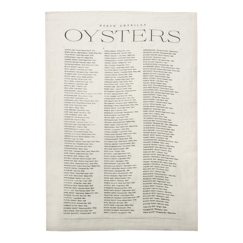 Oysters - Linen Tea Towel