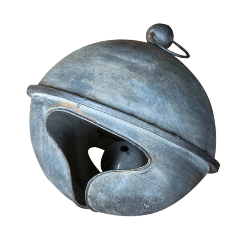 Oversized Weathered Tin Jingle Bell