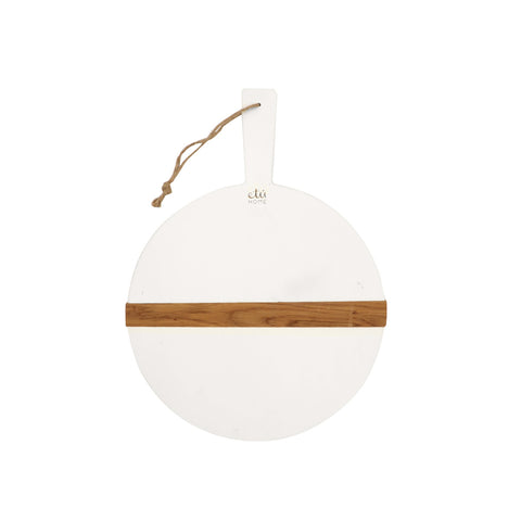White Dipped Round Board